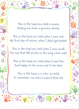 Handprint Poem (Perfect for Mother's Day Project too!)