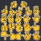 Hands Clip Art: Emoji Hands Clip Art, Counting Fingers, Thumbs Up