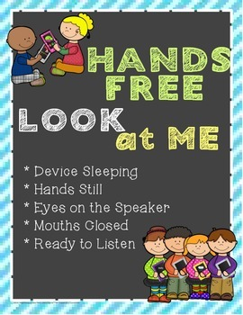 FREE Hands Free Look at Me Technology Management Routine