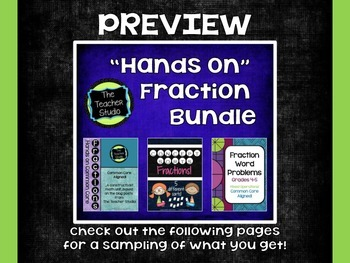 Hands On Fraction Bundle:  3 Critical Thinking Fraction Re