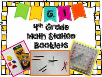 Hands-On Math Station Booklet - G.1 {Geometry / Lines / Ra