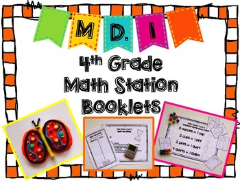 Hands-On Math Station Booklet - MD.1 {Measurement and Data