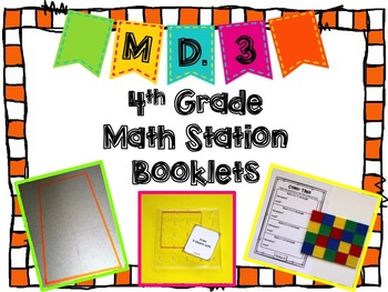 Hands-On Math Station Booklet - MD.3 {Area and Perimeter}