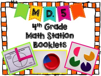Hands-On Math Station Booklet - MD.5 {Angle Measurement} C