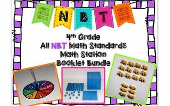 Hands-On Math Station Booklet - NBT Bundle {All 4th Grade