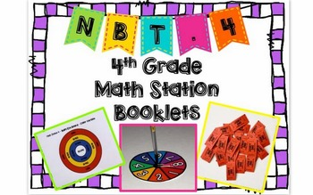 Hands-On Math Station Booklet - NBT.4 {Addition / Subtract