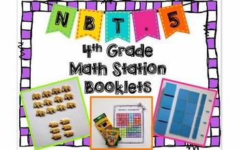 Hands-On Math Station Booklet - NBT.5 {Multiplication / Ar