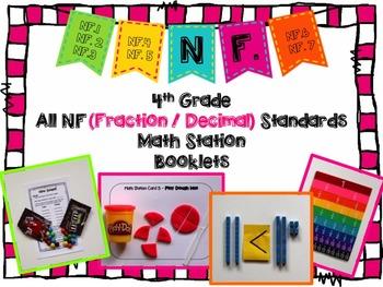 Hands-On Math Station Booklet - NF Bundle {All 4th Grade F
