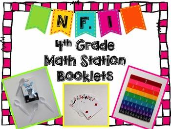 Hands-On Math Station Booklet - NF.1 {Equivalent Fractions