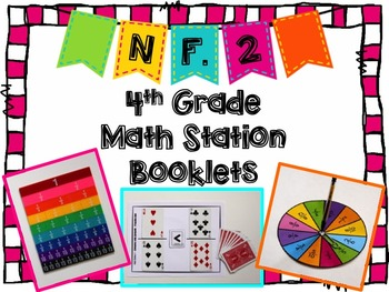 Hands-On Math Station Booklet - NF.2 {Comparing Fractions}