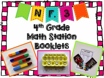 Hands-On Math Station Booklet - NF.3 { Fractions / Decompo