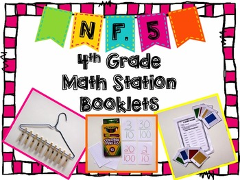 Hands-On Math Station Booklet - NF.5 {Decimal Fractions /