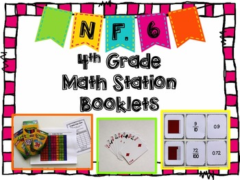 Hands-On Math Station Booklet - NF.6 {Decimals / Decimal N