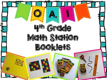 Hands-On Math Station Booklet - OA.1 {multiplication equat