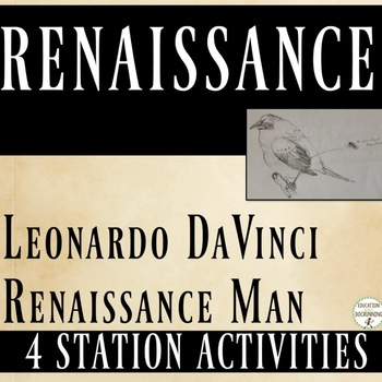Renaissance: 4 Station Activities with Renaissance Man - DaVinci