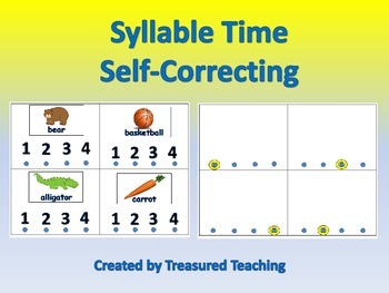 Hands On Syllable Counting Self Checking Activity for Lite