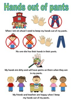 Hands Out Of Pants Social Story