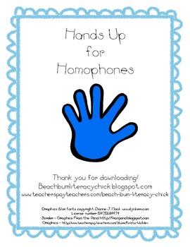 Hands Up for Homophones!