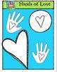 Hands of Love {P4 Clips Trioriginals Digital Clip Art)