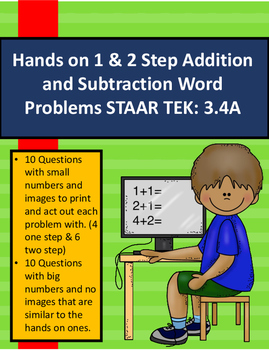 Hands on 1 & 2 Step Addition and Subtraction Word Problems