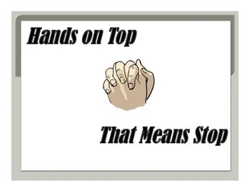 Hands on top that means stop