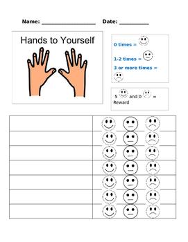 Hands to Self Behavior Chart
