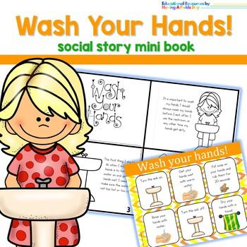 Handwashing Steps- Social Story Mini Book and Mini Poster
