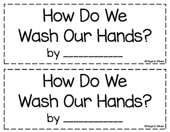 Handwashing--Interactive Book---English and Spanish Bundle