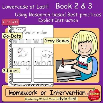 Lowercase Intervention or Homework Practice: Handwriting W