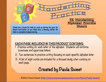Handwriting ABC Practice