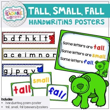 Handwriting Aide Posters - Tall, Small, and Letters That Fall