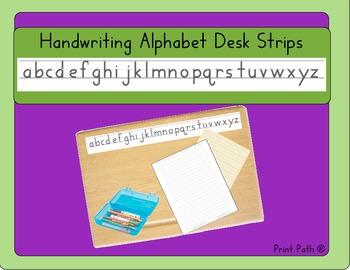 Handwriting Alphabet Desk Strips: HWT compatable
