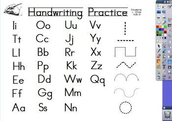 Handwriting Alphabet and Fine Motor Flipchart