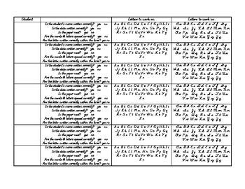 Handwriting Assessment Record