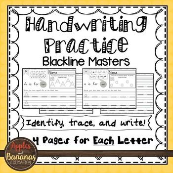 Handwriting - Blackline Masters - Tracing and Writing - Up