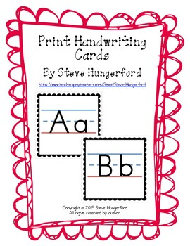 Handwriting Cards - Letters and Numbers