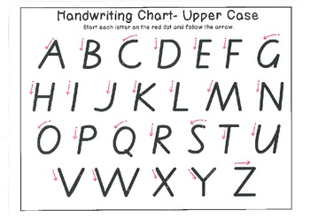 Handwriting Chart Uppercase