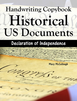 Handwriting Copybook: Historical US Documents (Declaration