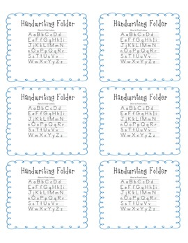 Handwriting Folder Labels