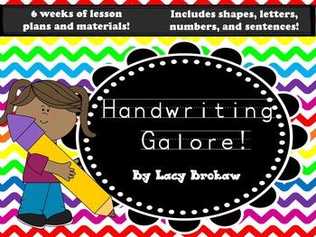Handwriting Galore Notebook No Prep