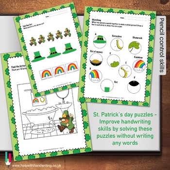 Handwriting Games for St Patricks Day for Grades 3, 4, 5 and 6