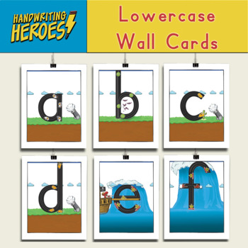 Handwriting Heroes Wall Cards
