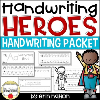 Handwriting Heroes {mini books and activity sheets to cele