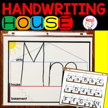 Handwriting House Upstairs Downstairs Basement