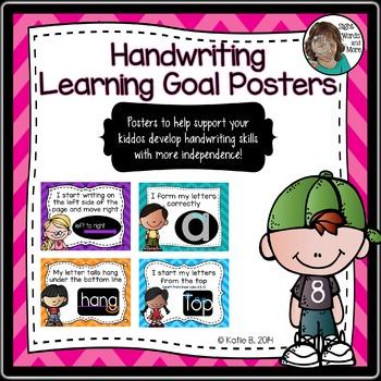 Handwriting Learning Goals