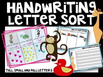 Handwriting Letter Sort - Tall, Small and Fall Practice