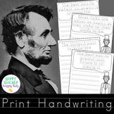 Handwriting Lincoln Quotes