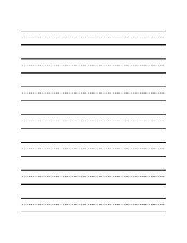 Handwriting Lines