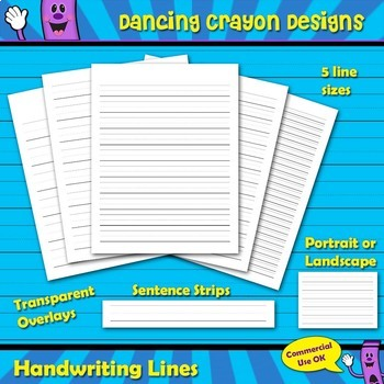 Handwriting Lines, Sentence Strips, Writing Lines Transpar