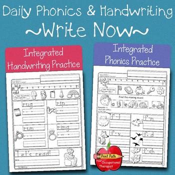 Integrated Phonics & Handwriting Practice ~Write Now~ Kin
